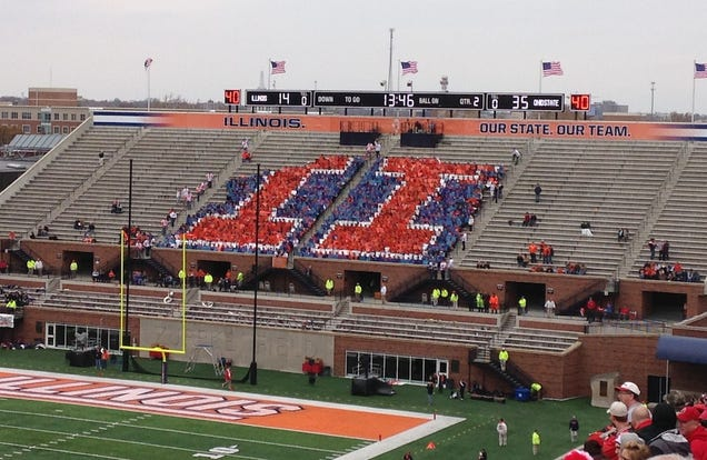 The Illinois Student Section Is The Saddest