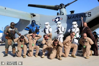 Illustration for article titled Star Wars Invades American Airbase