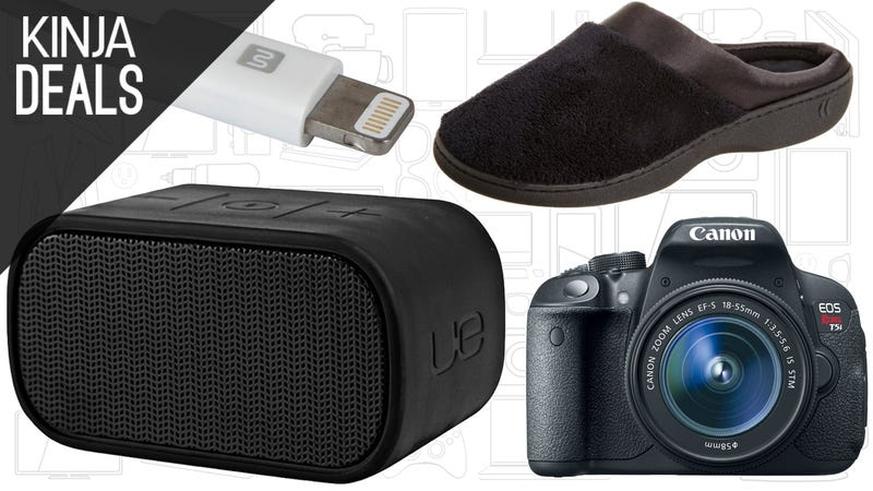Illustration for article titled Saturday's Best Deals: UE Mini Boom, Cheap Slippers, Lightning Cables, and More