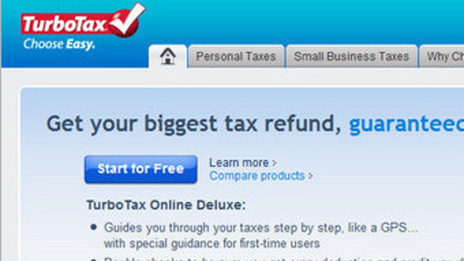 how to change from turbotax freedom to deluxe