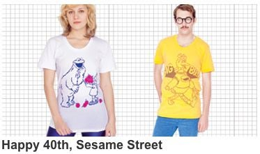 Illustration for article titled American Apparel For Sesame Street: The Goods Have Arrived