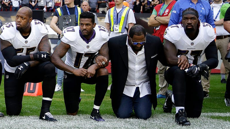 Ray Lewis, second from right (Matt Dunham/AP Images)