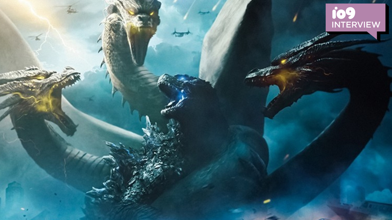 Godzilla and Ghidorah square off in a King of the Monsters poster.