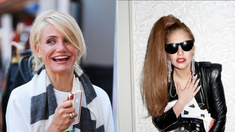 Illustration for article titled Is Lady Gaga Scared of Cameron Diaz 'Stealing' Her Boyfriend? (Um, No)