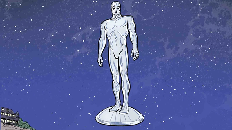Cover art for Marvel's recently-concluded Silver Surfer series, from issue #14.
