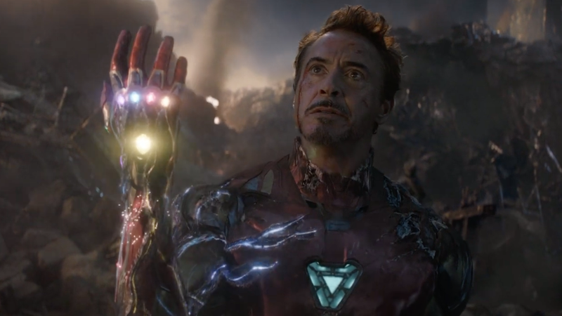 Tony Stark giving Thanos the what's what in Avengers: Endgame.