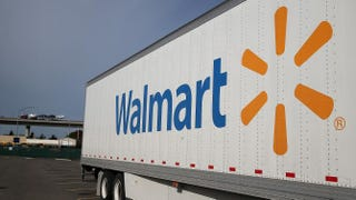 A Wal-Mart truck sits outside a Wal-Mart store on Feb. 20, 2014, in San Lorenzo, Calif.Justin Sullivan/Getty Images