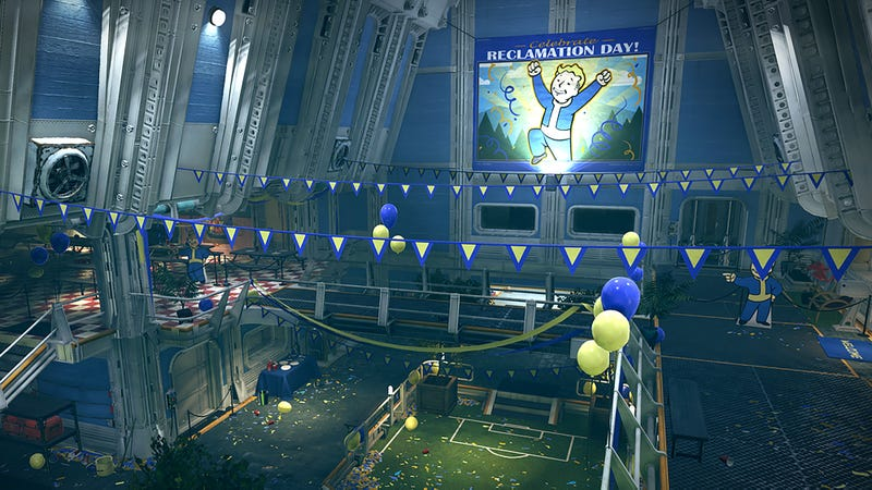 Illustration for article titled The Game's Objective Is To Turn Off The Siren That's Been Blaring From The White House Ever Since The Nuclear War Started: Here's Everything You Need To Know About 'Fallout 76'