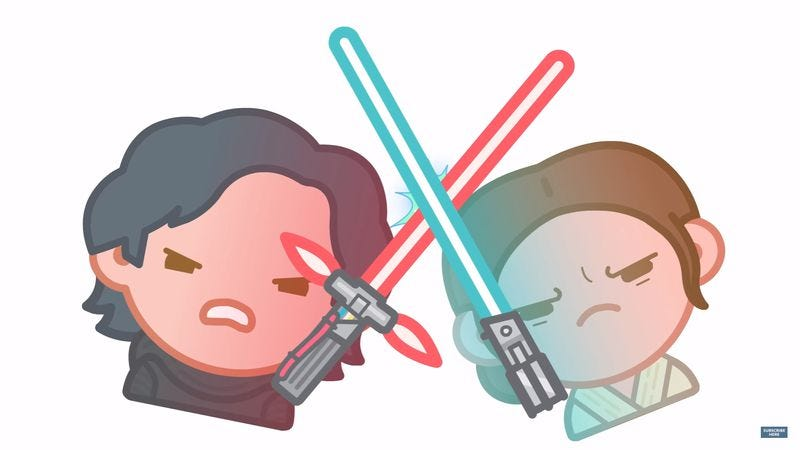 Illustration for article titled The Force Awakens in 3 minutes, told almost entirely with emoji