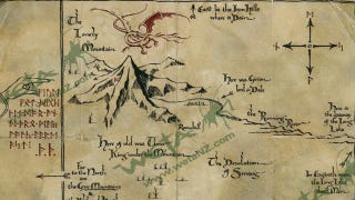 Illustration for article titled Gorgeous prop replica maps of Middle Earth take us through Peter Jackson's Hobbit