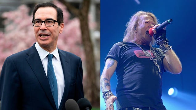 Axl Rose and Steven Mnuchin Are Fighting on Twitter About the Trump Regime s Coronavirus Death Toll