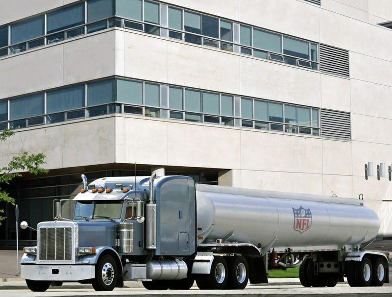 Illustration for article titled NFL Urine Tankers Arrive At League's Drug Testing Facility