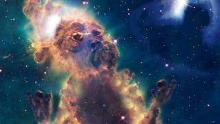 Illustration for article titled Altered Hubble images transform nebulae into bizarre cosmic monsters