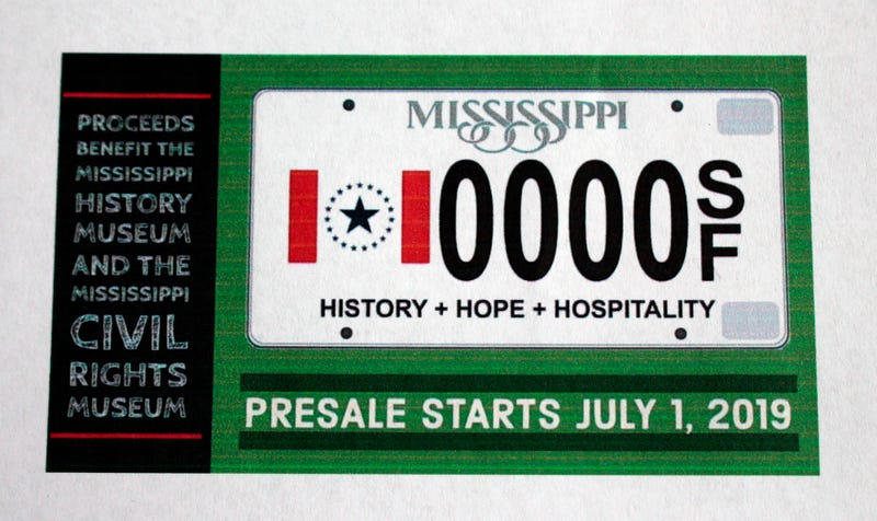Illustration for article titled Soon You Can Get a License Plate in Mississippi that Includes a State Flag Without the State's Racism