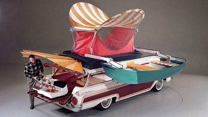 Illustration for article titled The 1959 Ford Country Squire Camper Is Perfect For All Your Summer Road Trip Needs