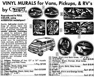Illustration for article titled JC Whitney '75: Hauntingly Beautiful Vinyl Van Murals By Greg of Akron