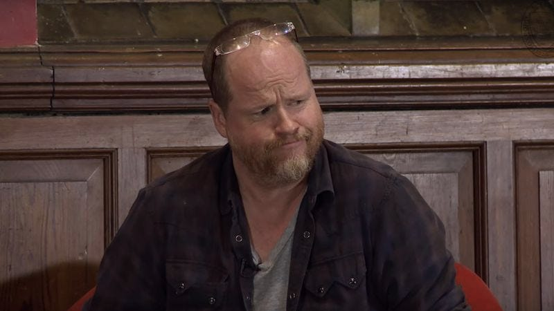 Joss Whedon, visually conveying the thought of any further Marvel work