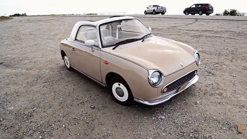Illustration for article titled A Beige Nissan Figaro is the Opposite of a GT-R