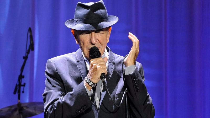Leonard Cohen performs at King's Garden in Denmark.