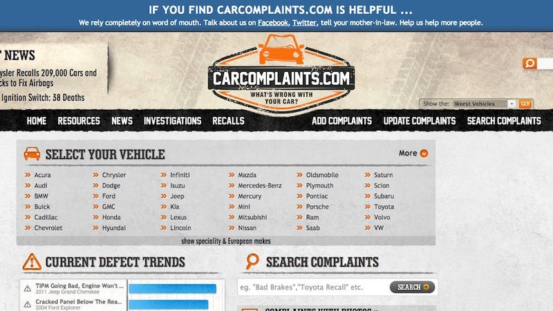 car complaints