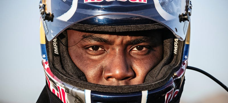Illustration for article titled Denver Bronco DeMarcus Ware Tries His Giant Hand At Off-Road Racing