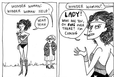 55150 as well Dont Bother Wonder Woman During Her Smoke Break besides 34 Drawings Of David Bowie By Famous Cartoonists likewise History  ics further 09. on kate beaton cartoon