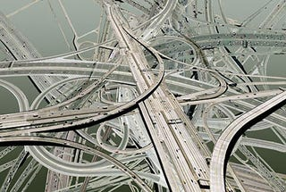 Illustration for article titled A Twelve-Layer Freeway Clover for Los Angeles