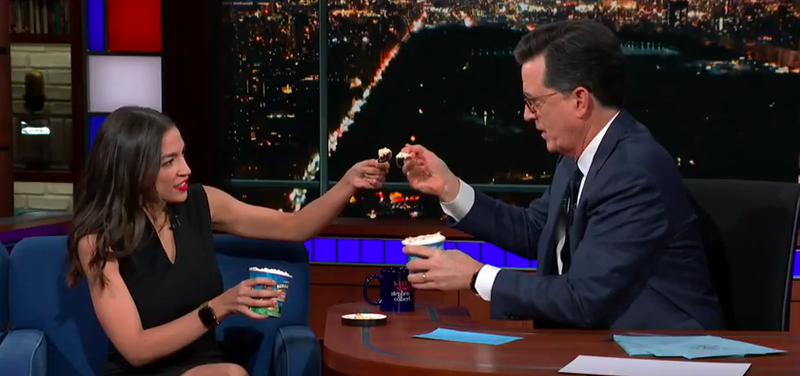 Rep. Alexandra Ocasio-Cortez tells rich guy Stephen Colbert why her 70 percent tax isn't scary