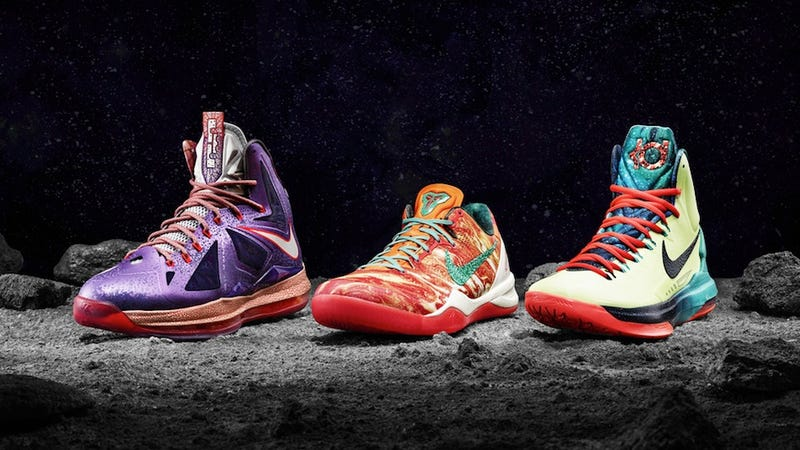 Illustration for article titled These Crazy Nike Shoes Look Like They're Made for Outer Space Aliens