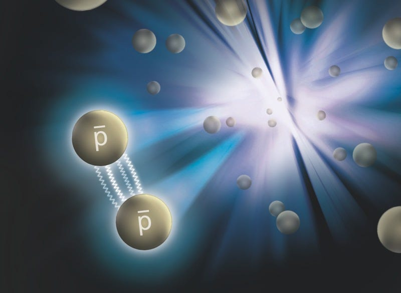 "Illustration for article titled For the First Time, Physicists Have Measured the ""Strong Force"" of Antimatter"