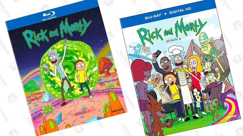 Rick & Morty: Season 1 [Blu-ray]   $10   AmazonRick and Morty: The Complete Second Season [Blu-ray]   $10   Amazon