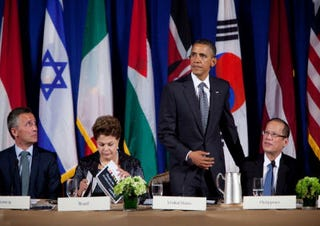 President Obama meets with leaders at United Nations (Getty)