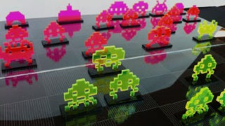 Illustration for article titled Space Invaders Makes for a Great Themed Chess Set