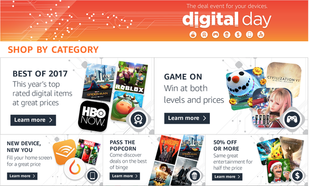 Amazons annual digital day features thousands of downloadable amazons annual digital day features thousands of downloadable discounts fandeluxe Choice Image