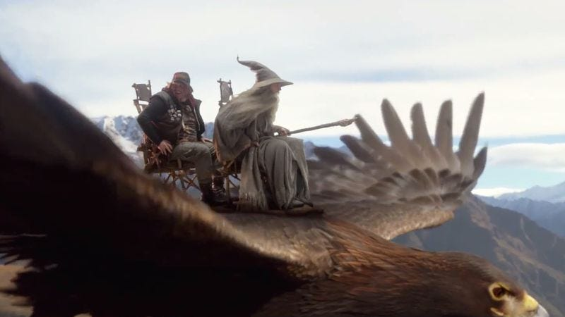 "Illustration for article titled Air New Zealand celebrates Hobbit-themed travel with ""most epic safety video ever made"""