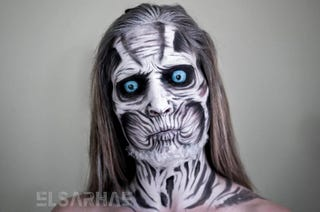 Illustration for article titled Human Transforms Into White Walker (With Creepy Timelapse)