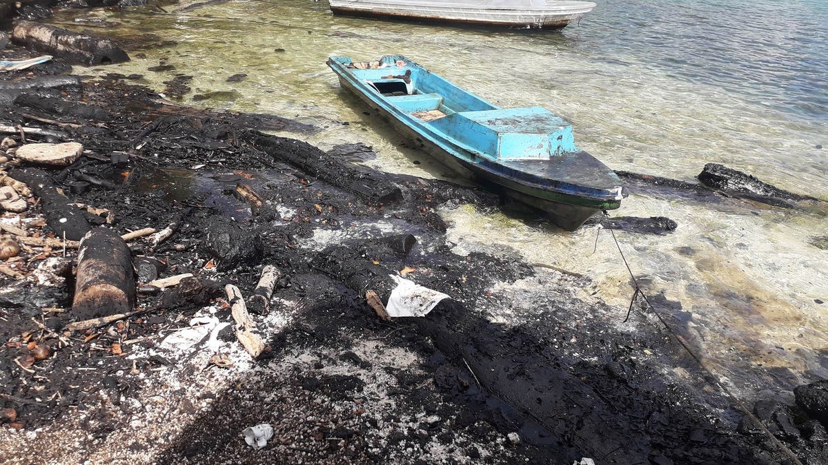 South Pacific Oil Spill Threatens Local Tribe As it Spreads Toward