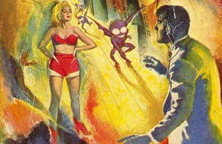 Illustration for article titled Pulp SF Book Covers That Channel Pure Id