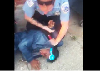 Jason Goolsby claims that police chased and handcuffed him because a white woman stated that she felt uncomfortable about his and his friends' presence near a Washington, D.C., Citibank.Twitter