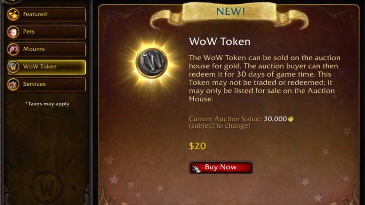 How World Of Warcraft Lets Players Put A Price On Their Time