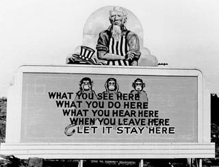 Illustration for article titled WWII Propaganda Billboards From The United States' Secret Atomic City