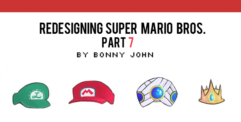 Illustration for article titled Redesigning Super Mario Bros. Part 7