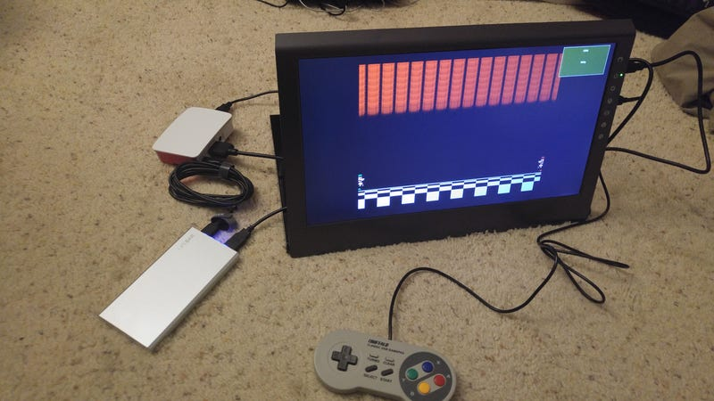 Illustration for article titled RetroPi + Portable Monitor + USB Battery Bank = Portable game station :D