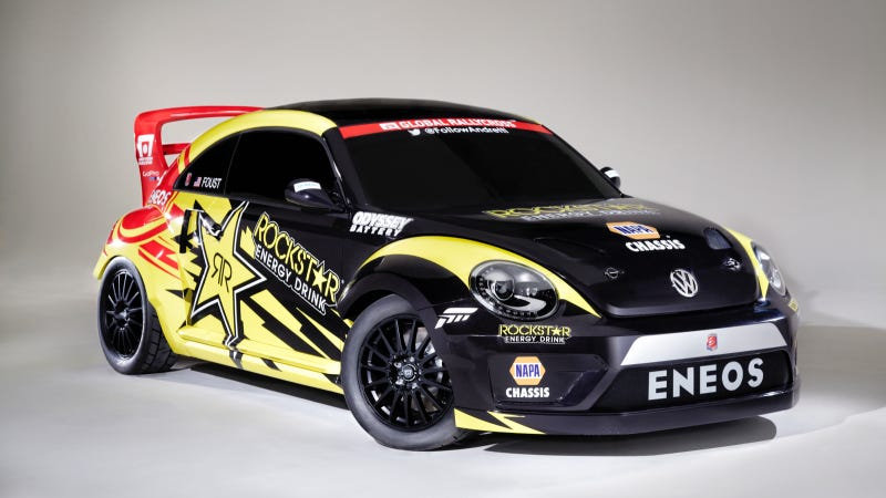 Illustration for article titled Holy Crap Tanner Foust Will Rallycross This 560 HP Volkswagen Beetle