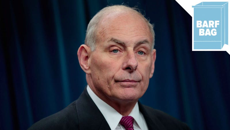 Illustration for article titled John Kelly, Whose Boss Is Donald Trump, Reportedly Believes That Women Are More Emotional Than Men