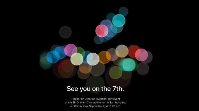 Illustration for article titled Our Apple iPhone 7 Event Liveblog Is Right Here