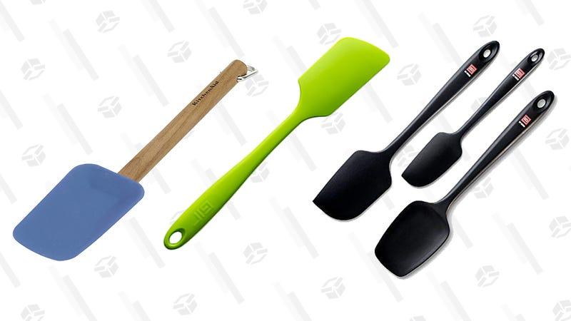 KitchenAid Gourmet Silicone Spoon Spatula GIR: Get It Right Premium Ultimate Silicone Spatula3-Piece Black Silicone Spatula Set By Di Oro
