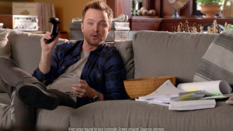 Illustration for article titled Aaron Paul's Xbox ad is messing with people's Xboxes