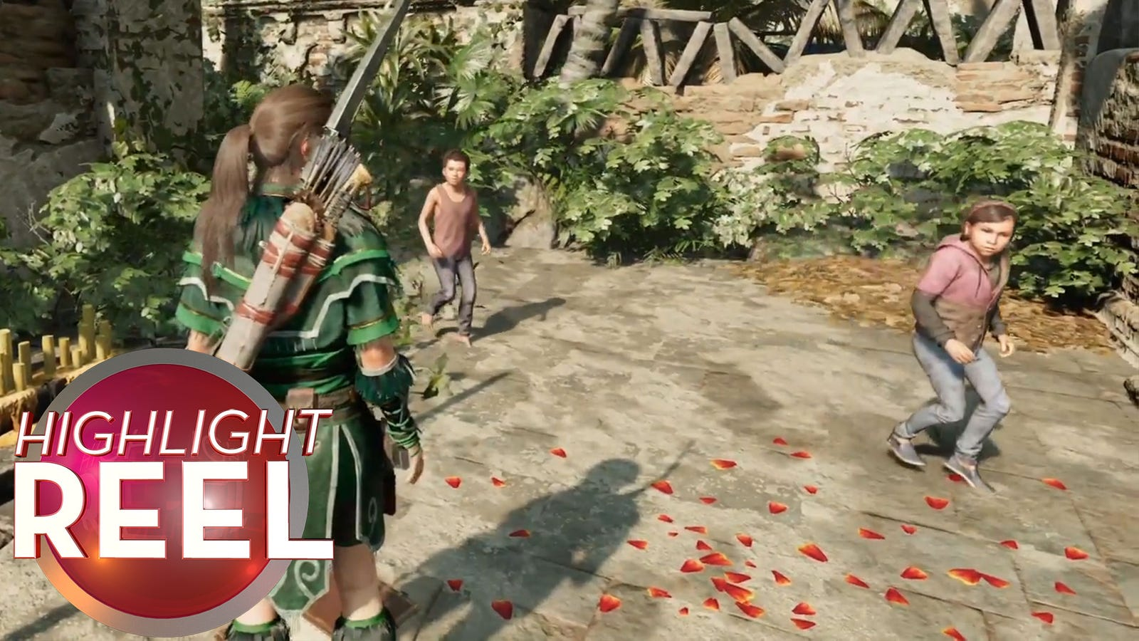 Lara Croft And The Terrifying Gliding Children