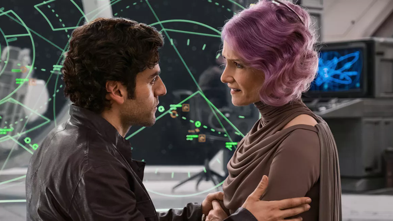 Poe and Holdo from The Last Jedi.